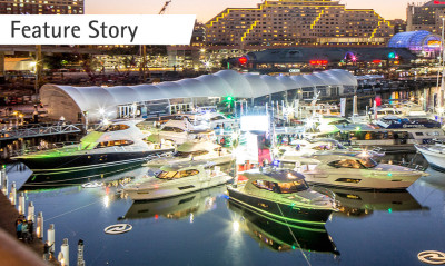 Riviera aglow at the Sydney International Boat Show