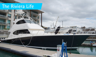 Two big and beautiful Riviera yachts arrive in Auckland