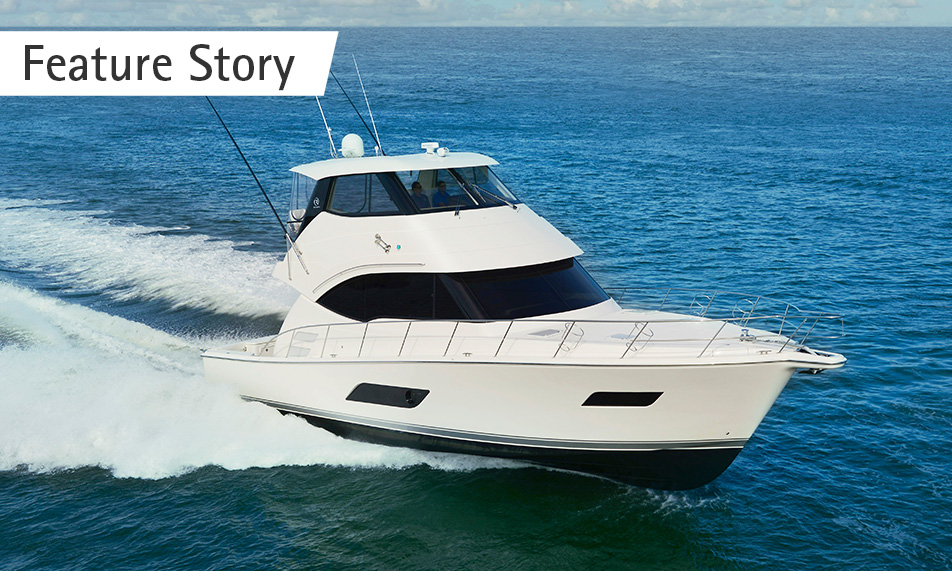 Riviera strengthens its competiveness on the world stage even further with the launch of the new 52 Enclosed Flybridge