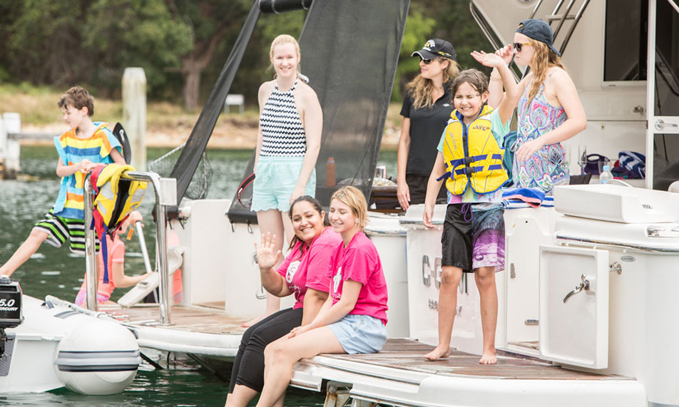 Smiling faces and successful fishing highlights of special cruise for Camp Quality
