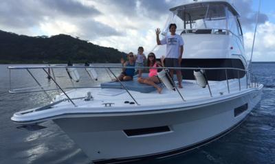 Celebrating two new arrivals in Tahiti