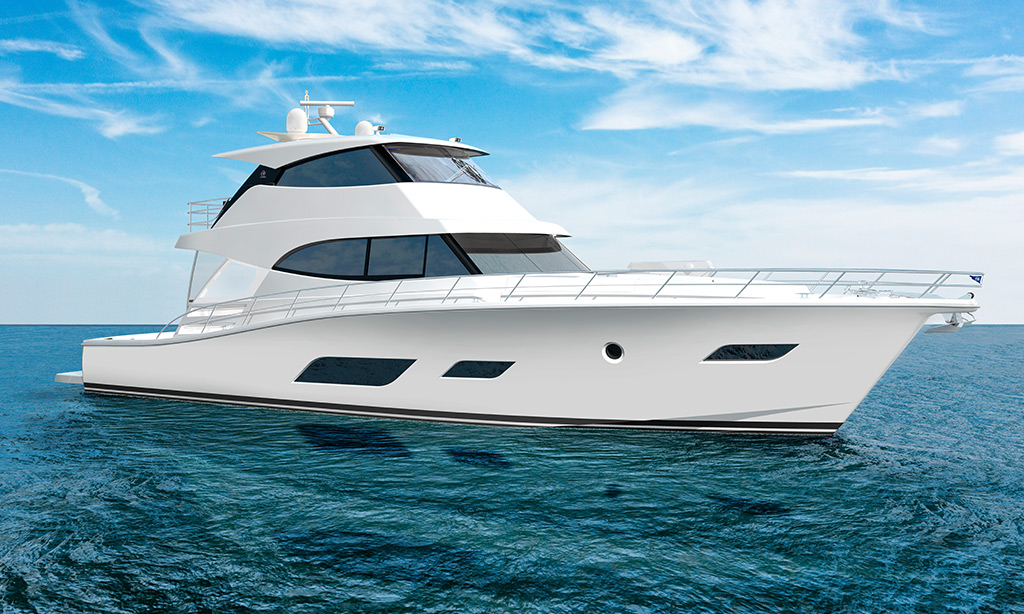 Riviera commences construction of the  long-range, luxurious new  Sports Motor Yacht collection