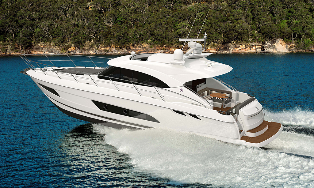 Enhance your family boating pleasure with  the stylish new Riviera 4800 Sport Yacht