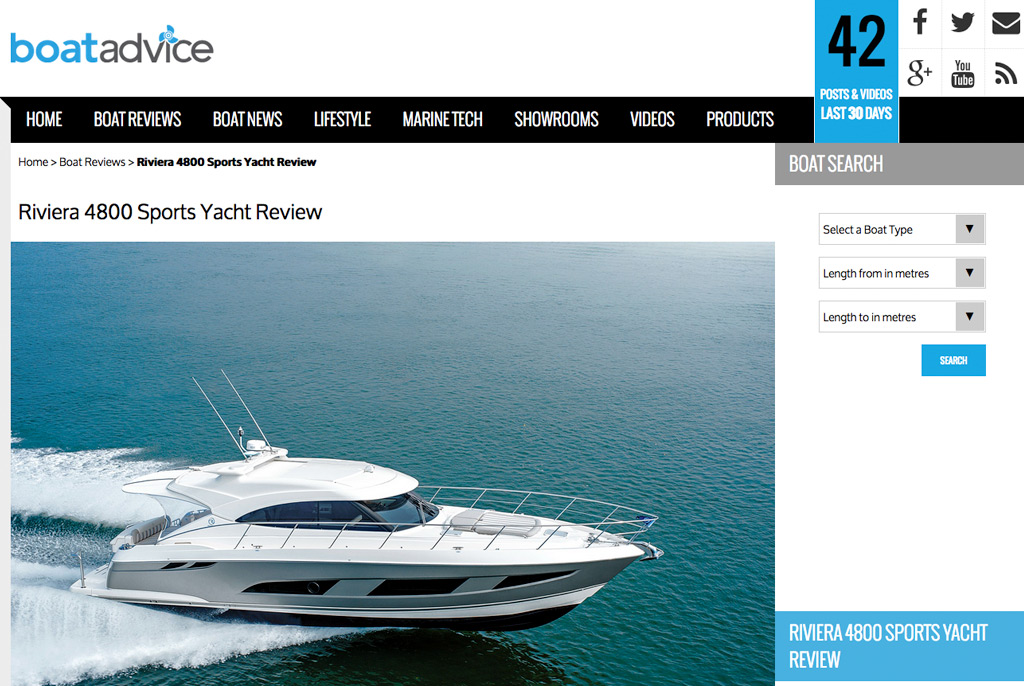 Boat Advice says the Riviera 4800 Sport Yacht is perfect for families