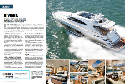 Sea Magazine puts the Riviera 6000 Sport Yacht through her paces